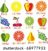 seamless pattern with fruit - stock vector
