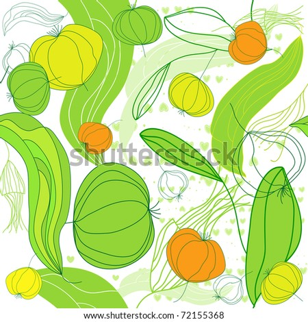 Seamless pattern with fruit. - stock vector