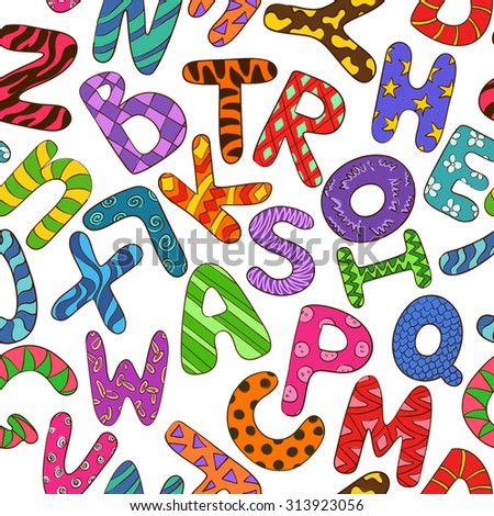 Pattern Alphabets Children Stock Photos, Royalty-Free Images ...