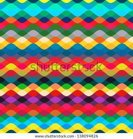 Seamless  pattern with  geometric / Seamless  pattern with zigzags - stock vector
