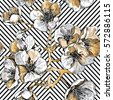 seamless pattern with gold...