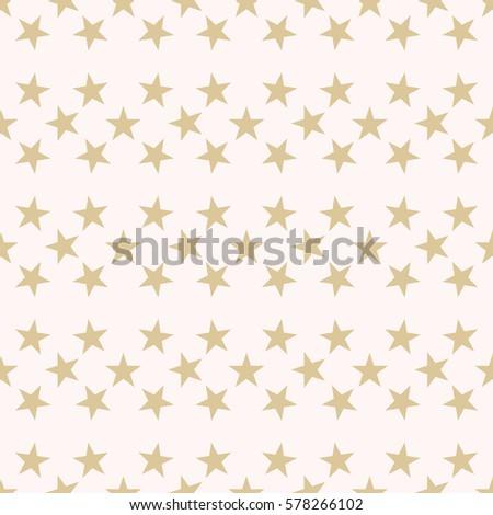 Seamless Pattern Gold Stars Horizontal Row Stock Vector ...