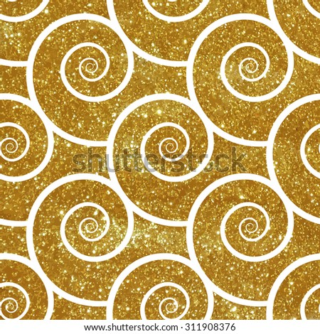 Seamless pattern with gold texture. Vector illustration. - stock vector