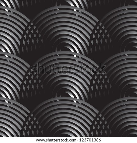Seamless pattern with gradient circles. Vector illustration for your design - stock vector