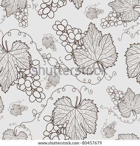 seamless pattern with grapes for your background - stock vector