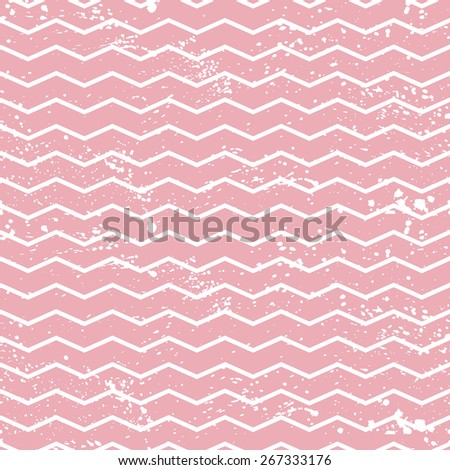 Seamless pattern with grunge zig zag - stock vector