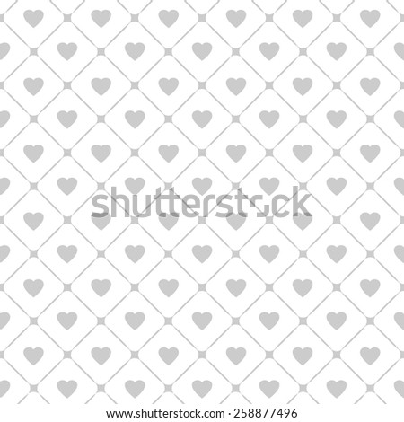 Seamless pattern with hearts and cages. Vector illustration. - stock vector