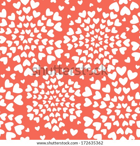 Seamless pattern with hearts. Valentines Day background. Stylish repeating print - stock vector