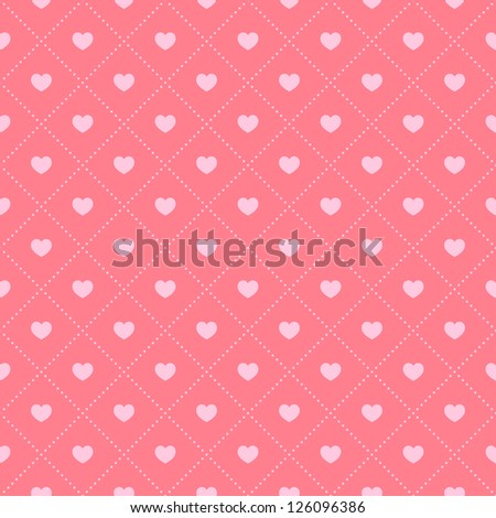 Seamless pattern with hearts.Vector illustration - stock vector