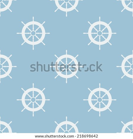 Seamless pattern with helms. Vector illustration. Soft colors. - stock vector