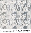 Seamless pattern with hipsters. - stock vector