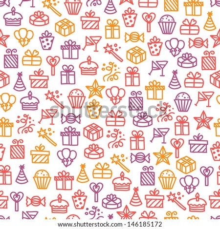 Seamless pattern with holiday elements - stock vector