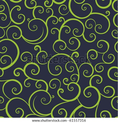 seamless pattern with leaf - stock vector