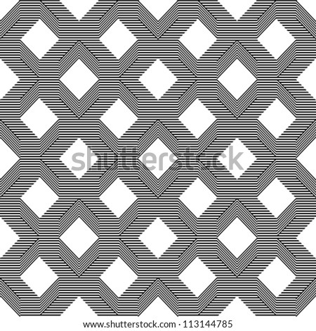 Seamless pattern with line black and white