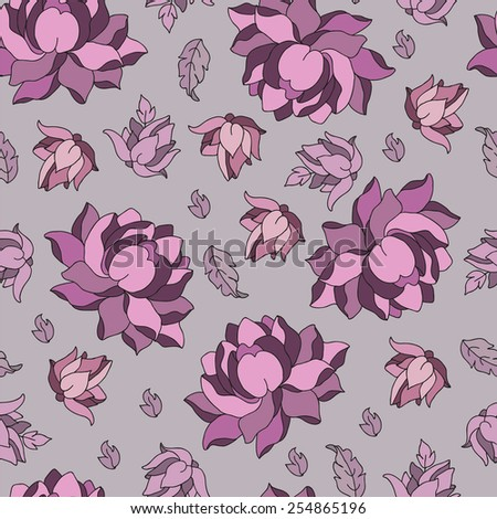 seamless pattern with lotus. - stock vector