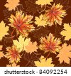 Seamless pattern with maple leafs. Autumn leafs background. - stock vector