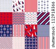 Seamless pattern with nautical elements - stock
