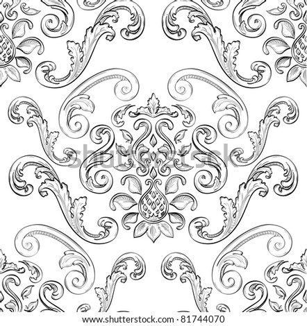Seamless pattern with nice East ornament - stock vector