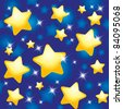 seamless pattern with night sky and stars - stock photo