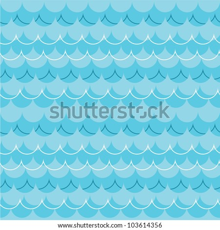 seamless pattern with ocean waves - stock vector