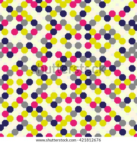 Seamless pattern with octagon. Vector background. Geometric abstract texture