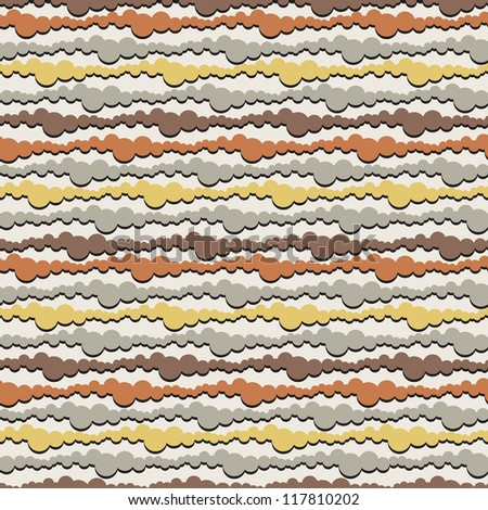 Seamless pattern with overlapping rings. Vector striped illustration