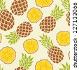 Seamless pattern with pineapples - stock vector