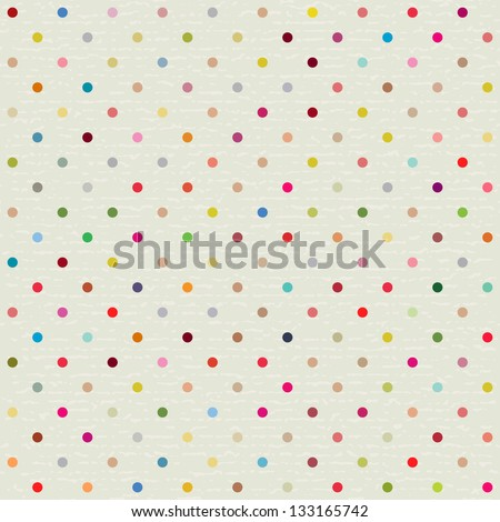 Seamless Pattern With Polka dot - stock vector