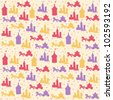 Seamless pattern with princess design elements - stock vector