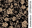Seamless pattern with rose flowers for background design. Jpeg version also available in gallery - stock vector