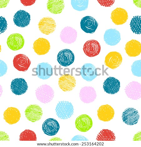 Seamless pattern with scribble dots. Vector abstract  background, suitable for wallpaper, banner, page, design. Flat color for easy change.