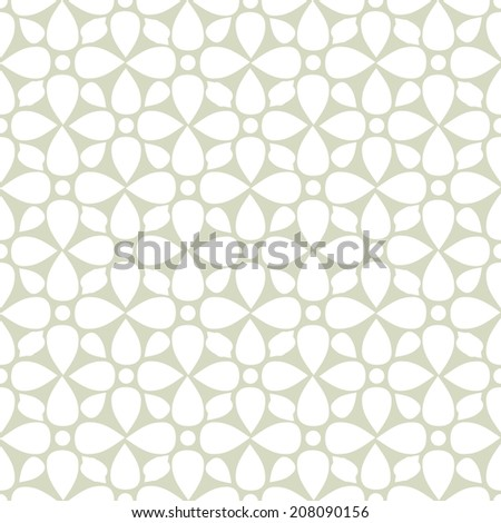 Seamless pattern with silhouettes lotus flowers. Abstract floral light background. Endless print texture. Fabric design. Wallpaper - vector  - stock vector