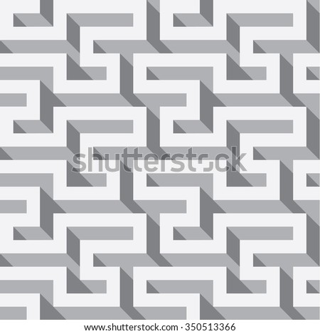 seamless pattern with simple maze. editable vector file. easy to change color.