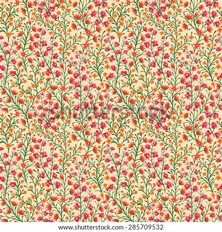 Seamless pattern with small flowers - stock vector