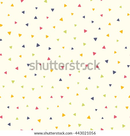 Seamless pattern with small triangles