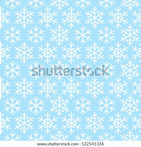 Seamless pattern with snowflake ornate