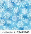 seamless pattern with snowflakes - stock vector