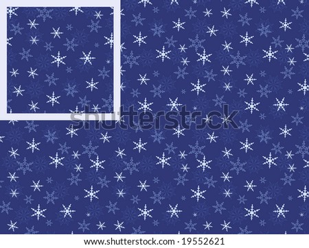 Seamless pattern with snowflakes. You can change color, size and location as you wish - stock vector