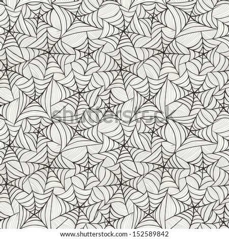 Seamless pattern with spider web - stock vector