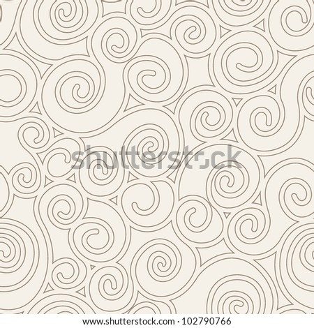seamless pattern with spiral curls. fashion vector texture - stock vector