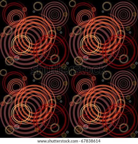 Seamless pattern with spiral elements. Stylish graphic design. Vector EPS10. - stock vector