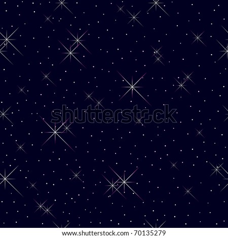Seamless pattern with stars and lights. Vector.