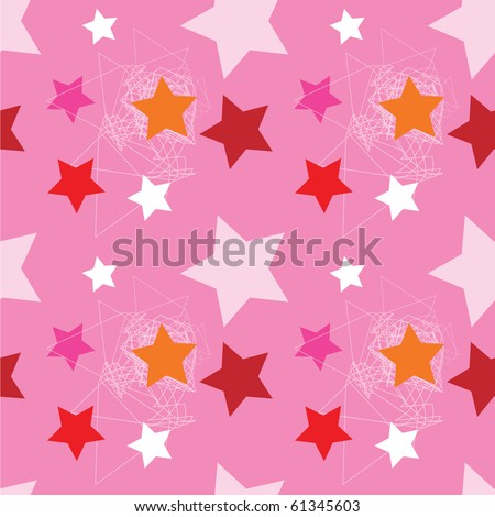 Seamless pattern with stars. Vector. - stock vector