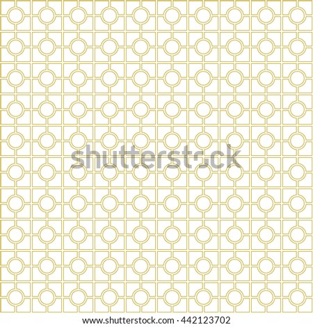 Seamless pattern with symmetric ornament. Abstract mosaic background. Grill wallpaper. Vector illustration