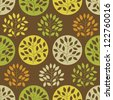 Seamless pattern with trees - stock vector