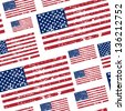 seamless pattern with United States of America flag for your design - stock vector
