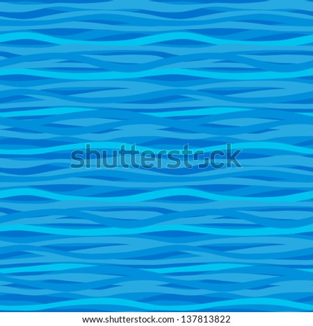 Seamless pattern with waves. - stock vector
