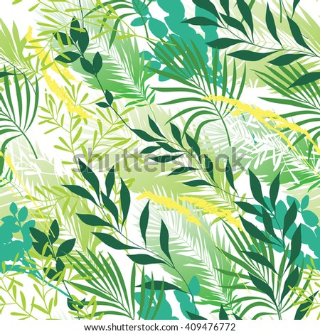 Seamless pattern with waving green grass - stock vector
