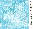 Seamless pattern with winter snowflakes - stock vector
