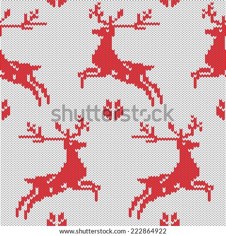Seamless pattern with winter sweater design - stock vector